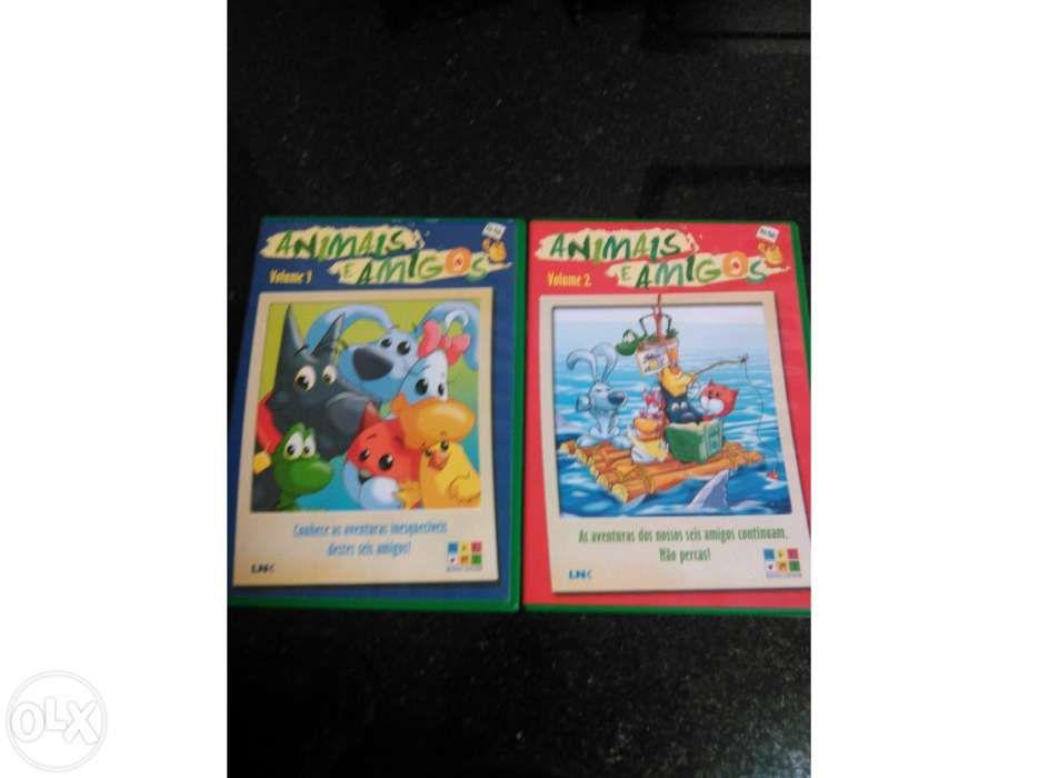 2 Dvd Animais e Amigos Castelo Branco - imagem 1