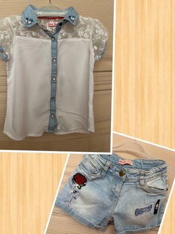 Продам літній костюм блуза і джинсові шорти