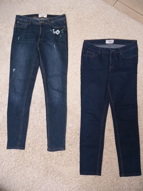 Dżinsy jeansy Reserved New Look jak nowe 38 M wyprzedaż szafy 2 pary