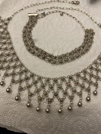 Srebrny filigranowy komplet naszyjnik i bransoletka jak imago art
