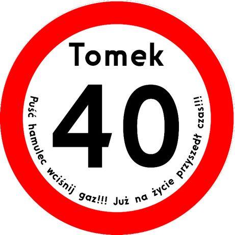 Znaki 40 50 urodziny prezent/ urodzinowy farba drogowa /Poznań