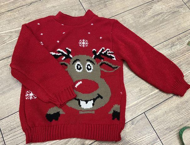Новогодний свитер дед мороз на 5/6 лет