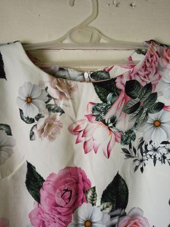 Sukienka trapezowa kwiaty