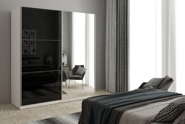 Szafa przesuwna z lustrem GREK 5 na wymiar 150 cm