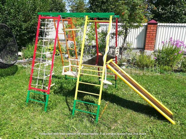 Игровая площадка, качели, детский спортивный комплекс, горка, домик