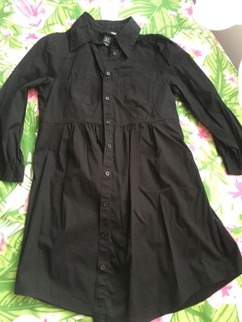 Czarna dluga koszula