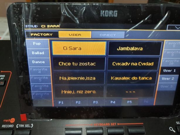 REPERTUAR Style 800 2xpro 3x 4 x pa xpro 2  sample songbok STS Nowosc