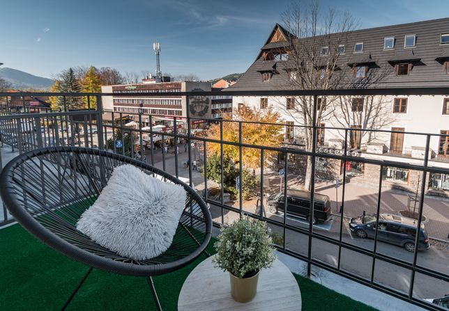 Apartament noclegi na Krupówkach centrum dla 2-4 osób z balkonem