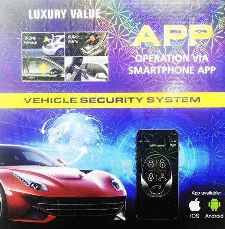 Автосигнализация CAR ALARM 2 WAY KD-3000 APP