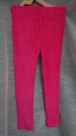 Girl 2 Girl 104 welurowe prążkowane legginsy  tregginsy z kieszonkami
