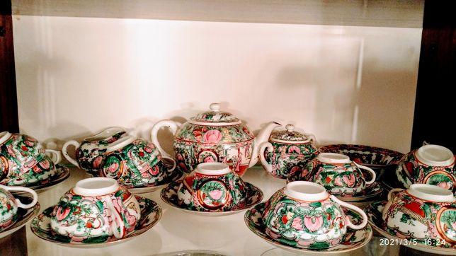 Serviço de chá em porcelana chinesa (antiga) para 12 pessoas