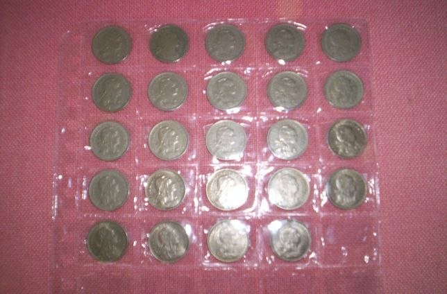 moedas 50 centavos alpaca