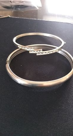 bransoletka srebrna 925 bangla 2 szt