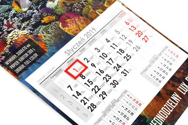 Kalendarz jednodzielny własny zadruk firmowy