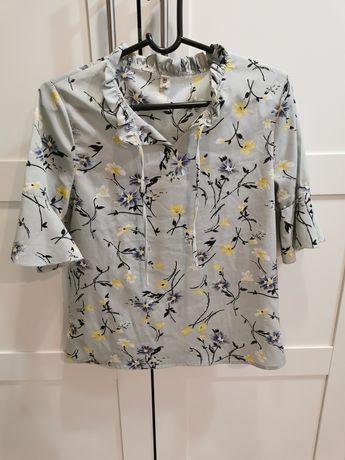 Bluzka kwiaty falbanki S/M