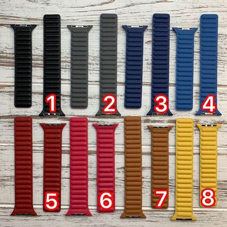 Ремешок силиконовый кожаный nelon milanese apple watch 38 40 42 44 mm
