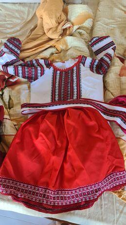 Вышиванка с юбкой на 127-145