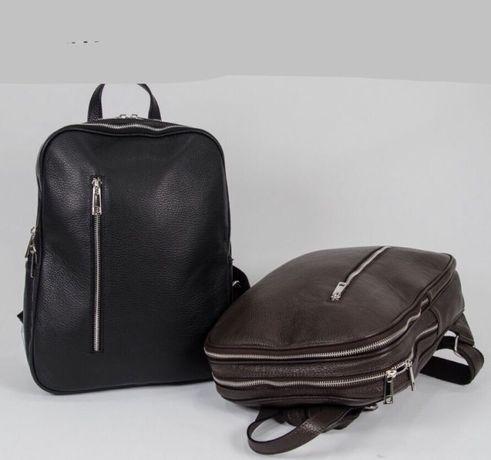 Кожаный рюкзак Рюкзак из натуральной кожи Италия Кожаная сумка Италия