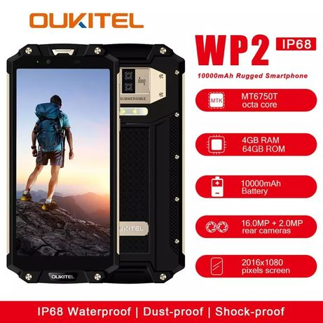 Oukitel WP2, IP68 NFC 4/64gb, 10000mah