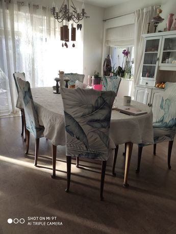 Piękny stół drewniany270 cm krzesła plus komoda drewniana