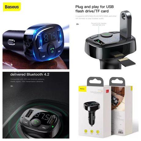 Carregador Smartphone MP3/FM-transmissor P/ carro S-09A -Baseus- 24h