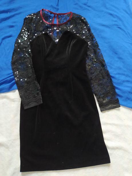 Платье велюрове плаття с  паєтками opera