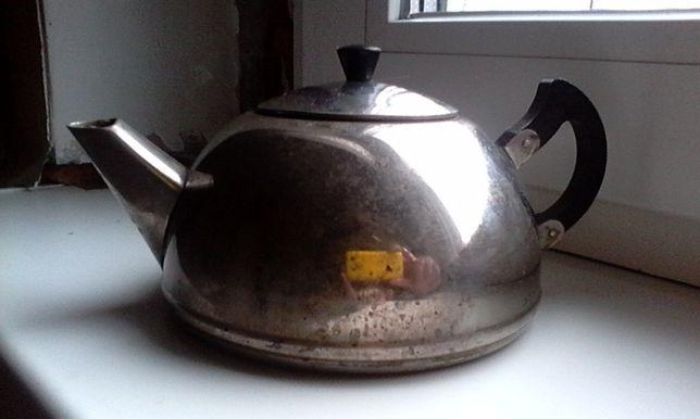 Заварочный чайник СССР, мельхиор.