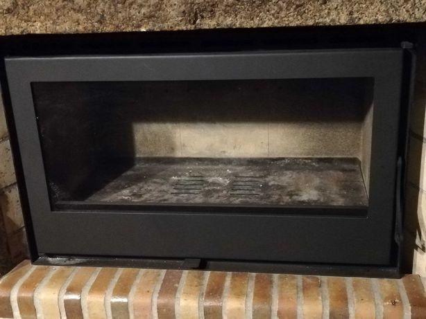 Recuperador de calor a lenha Solrak 900, 12,6 kW, para grande espaço