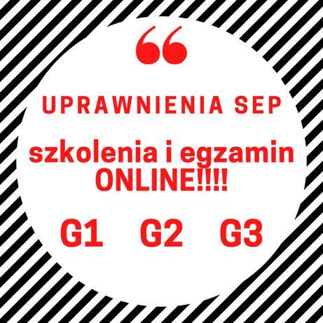Szkolenie SEP -G1, G2, G3. Szkolenie i egzamin online! Uprawnienia SEP