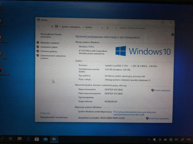 """Laptop ThinkPad dotykowy 12,1"""" i7 Windows 10 prof 4-6gb"""