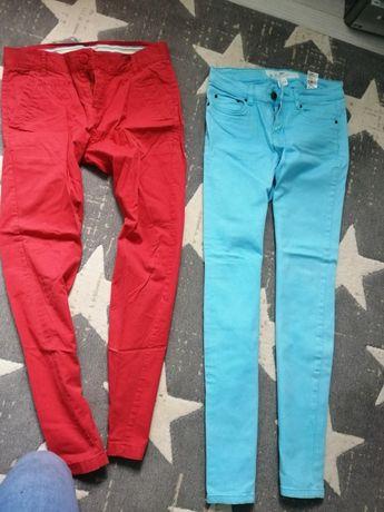 Spodnie kolorowe męskie h&m, new york, reserved