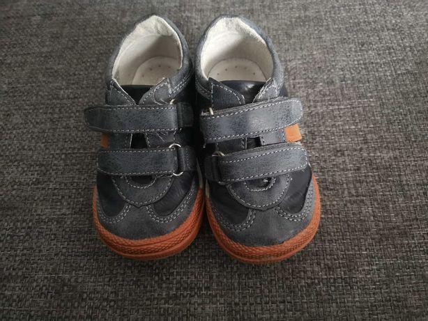 Skórzane butki chłopięce rozmiar 22