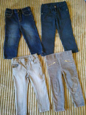 Джинсы штаники 1-1.5-2 года для девочки