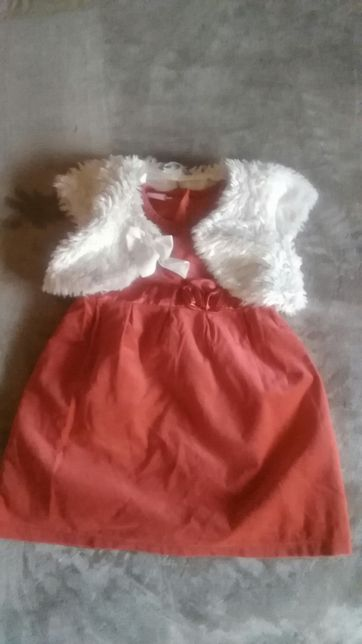 Sukienka komplet z futerkiem