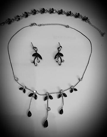 Kpl.Biżuterii Posrebrzanej