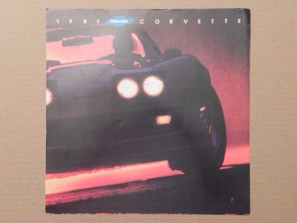 Prospekt - CHEVROLET CORVETTE C3 - 1981 r