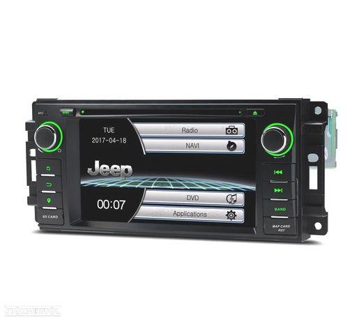 "AUTO RADIO JEEP WRANGLER 07-12 / GRAND CHEROKEE 08-11 USB GPS TACTIL 6.2"" HD"