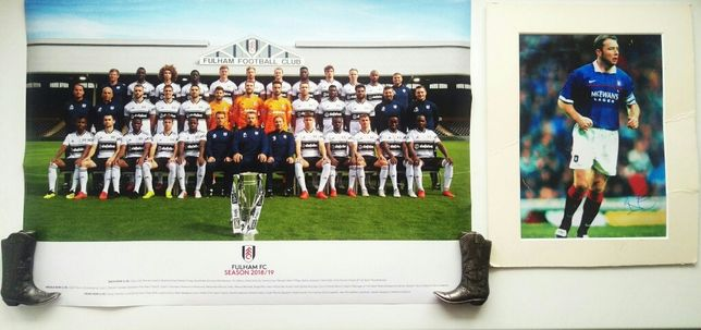 Rangers Рейнджерс Фото с автографом Ally McCoist, Плакат Fulham Футбол