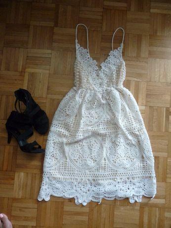 MEGA Koronkowa sukienka rS