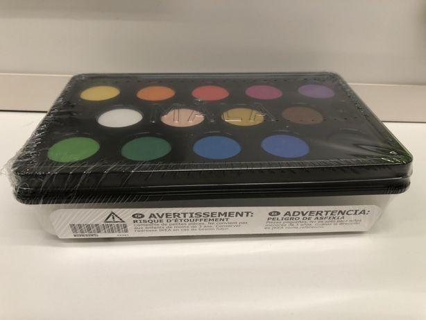 Акварельні фарби икеа, 14 кольорів, пензлики
