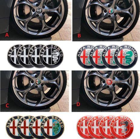 NOWY emblemat Alfa Romeo znaczek 56mm do felg kół kołpaków aluminium