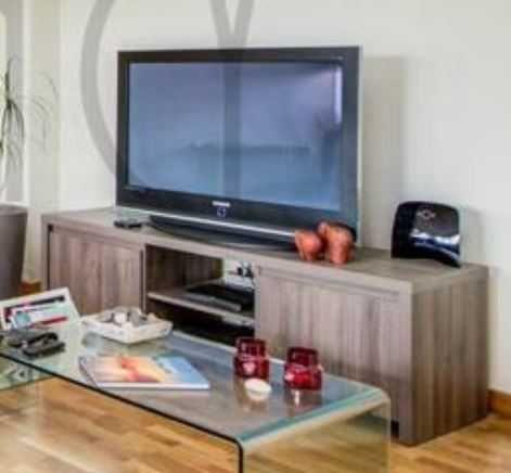 Consola TV cor nogueira