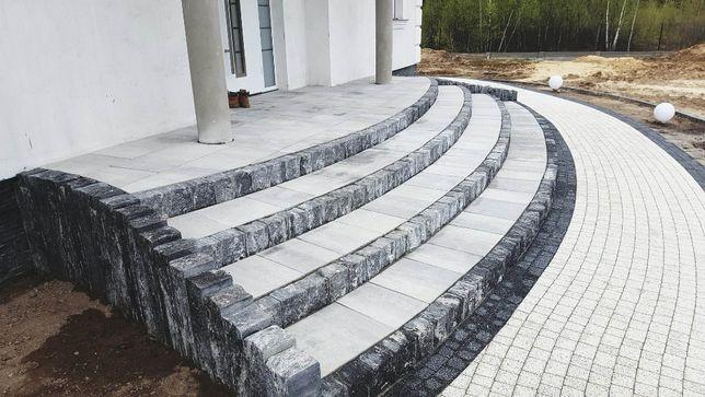 PALISADA uni split BRUK-BET karbon 60x10x15 cm na schody,rabaty