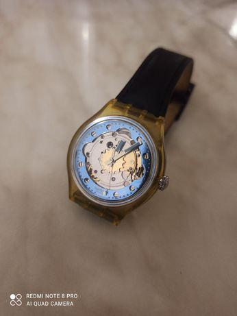Часы Swatch automatic швейцарские, годинник скелетон, механические