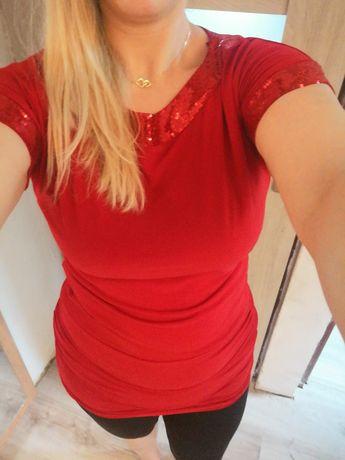 Tunika czerwona Hit jesień XL