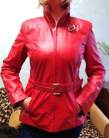 Стильная кожаная куртка новая. Турция
