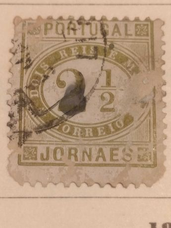 Filatelia Selo antigo 1876 jornaes 2 reis e meio /correio Portugal