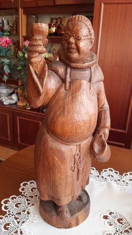 Mnich rzeźba drewniana