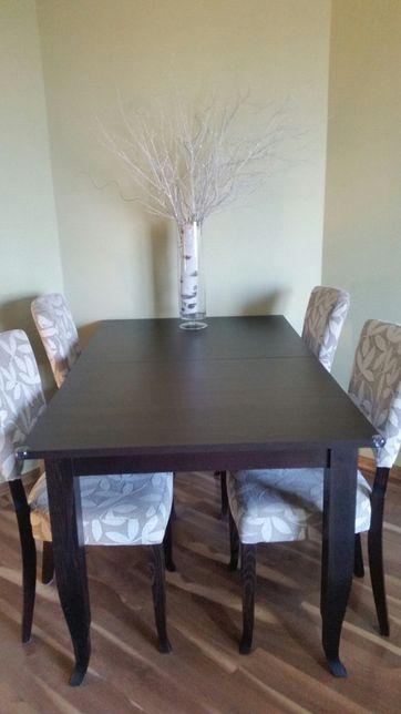 Stół krzesła black red white z krzesłami wenga