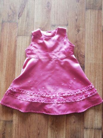 Sukienka dziewczęca różowa rozmiar 86-92 marks&spencer